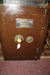 Antique Heavy Iron Safe Hobbs + Co Cheapside London