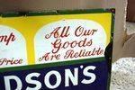 Antique Hudsons Soap Enamel Sign