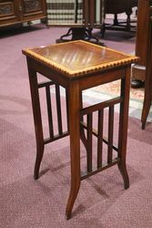Antique Inlaid Mahogany Nest of 4 Tables