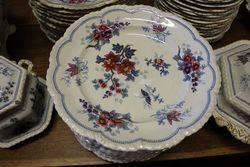 Antique JWR 200 Piece Japan Flowers Dinner Service