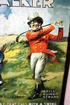 Antique Johnnie Walker Scotch Whisky Pictorial Tin Sign Arriving Nov