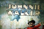 Antique Johnnie Walker Scotch Whisky Pictorial Tin Sign Arriving Nov