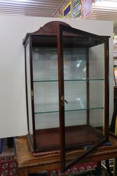 Antique KC Cycle And Motor Accessories  counter top display cabinet