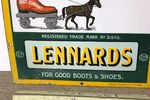 Antique Lennards Boot Company Pictorial Enamel Sign