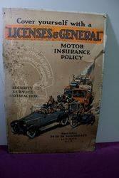 Antique Licenses + General Pictorial Tin Sign