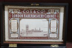 Antique London Haberdashery Cabinet