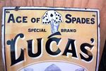 Antique Lucas Spades Enamel Sign