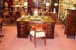Antique Mahogany 18 drawer Partners Desk