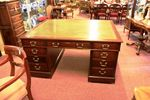 Antique Mahogany 18 drawer Partners Desk