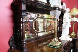 Antique Mahogany 4 Door Mahogany Mirror Back Sideboard