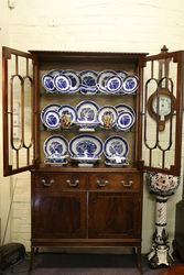 Antique Mahogany Display Cabinet