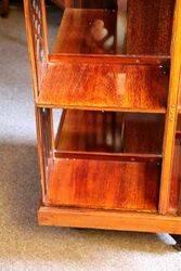 Antique Mahogany Scallop Top Revolving Bookcase