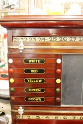 Antique Mahogany Snooker Score Board