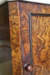 Antique Marble Top Burr Walnut bedside