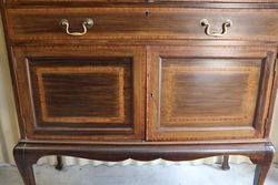 Antique Mirror Back Cabinet