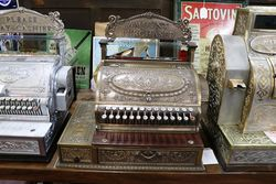 Antique National Cash Register with Side Drawer