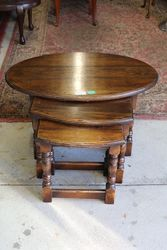 Antique Nest Of 3 Coffee Table