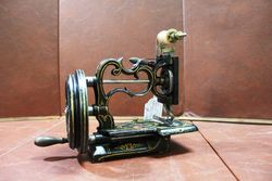 Antique New England Short Version Sewing Machine C1865