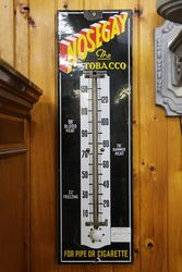 Antique Nosegay Thermometer Enamel Sign