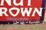 Antique Nut Brown Tobacco Enamel Sign