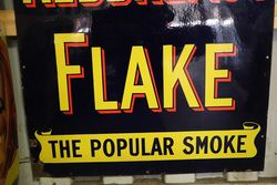 Antique Ogdens Redbreast Flake Enamel Sign