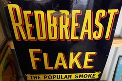 Antique Ogdens Redbreast Flake Enamel Sign