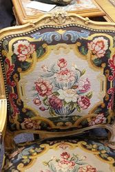 Antique Pair of French Fauteuil Arm Chairs