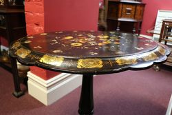 Antique Papier Mache Occasional Table