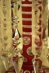 Antique Rare Pr Pink Overlay Glass Luster Vases Arriving Nov