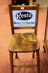 Antique Restu Shop Advertising Chair