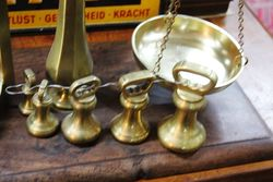 Antique Set Of Avery Balance Scales With 7 Bell Weights