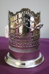 Antique Silver Plate Wine Bottle Coaster