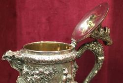 Antique Silverplated 17th Centurystyle Wine Jug