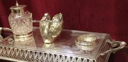 Antique Silverplated Desk Companion C1900