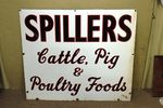 Antique Spillers Farming Enamel Advertising Sign