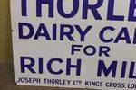 Antique Thorley Rich Milk Farming Enamel Sign