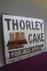 Antique Thorleyand39s Cake Enamel Advertising Sign