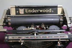 Antique Underwood Standard Typewriter Number 3