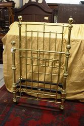 Antique Victorian Brass Single Bed