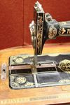 Antique Victorian Frister And Rossman Sewing Machine With Inlaid Case