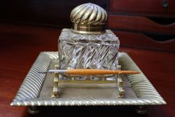 Antique Victorian Ink Stand