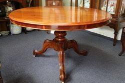Antique Victorian Round Mahogany Loo Table English C1860