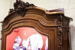 Antique Walnut French Provincial Armoire  C1885