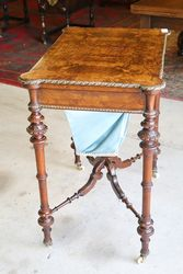 Antique Walnut Sewing Box