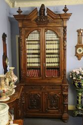 Antique Well Carved French 2 Door Bookcase