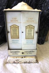 Antique West Hair Net Revolving Dispensing Cabinet