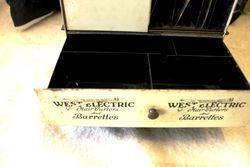 Antique West Hair Net Revolving Dispensing Cabinet