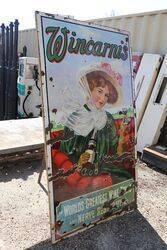 Antique Wincarnis Pictorial Enamel Sign