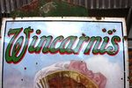 Antique Wincarnis Tonic Pictorial Enamel Sign Arriving Nov