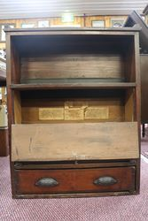 Antique Yates Seeds Shop Counter Cabinet